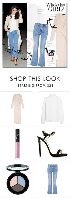 """""""Selena Gomez"""" by junglover ❤ liked on Polyvore featuring The Row, Vanessa Bruno, NARS Cosmetics, Jimmy Choo, Smashbox, MiH, Yves Saint Laurent, women's clothing, women and female"""
