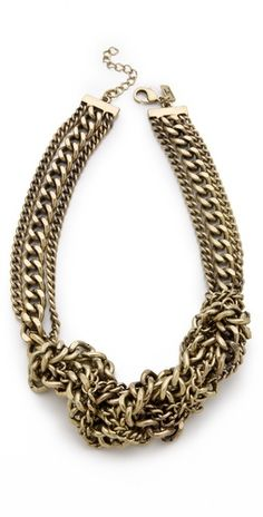 Juliet & Company 'Tordu' thick and thin chain necklace $85, get it here: http://rstyle.me/~5ukX
