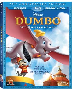 I found 'Dumbo (Two-Disc Anniversary Edition Blu-ray / DVD Combo Pack in Blu-ray Packaging) on Wish, check it out! Disney Films, Disney Movies By Year, Disney Songs, Collection Disney, Movie Collection, Dumbo Movie, Movie Tv, Dumbo 2, Baby Dumbo