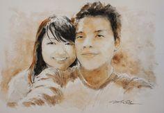 Acoustic Drawings The Shinji Ogata Gallery: Nice Couple 16 ナイスカップル 16