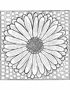 Kleuren.nu - Mandala bloempatroon kleurplaten