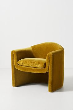 Velvet Sculptural Chair by Anthropologie in Yellow Size: All, Chairs Plywood Furniture, Hanging Furniture, Cool Furniture, Living Room Furniture, Modern Furniture, Furniture Design, Hanging Chairs, Hanging Beds, 1970s Furniture