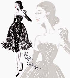Hayden Williams Fashion Illustrations: 'LBD' by Hayden Williams