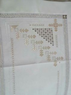 Hardanger Embroidery, Embroidery Patterns, Thread Work, Bargello, Diy And Crafts, Cross Stitch, Sewing, Crochet, Cross Stitch Embroidery