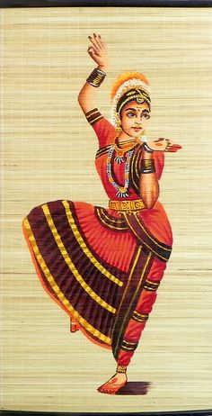 Bharatanatyam Dancer Acrylic Painting Jewelled By Hykaur