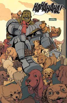 S.H.I.E.L.D. stopping Hulk with a puppy bomb in Indestructible Hulk Special #1.