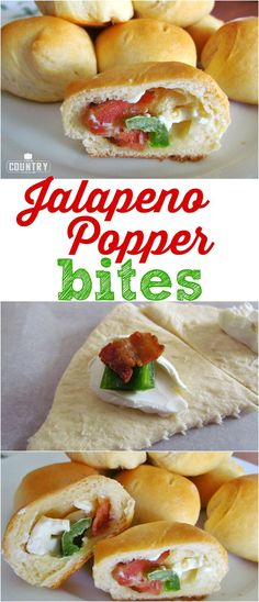 Jalapeno Popper Bites recipe from The Country Cook. Only 4 ingredients and everyone will want more of this party appetizer!