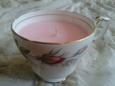 Vintage cup candle