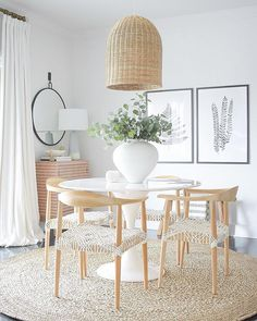 Boho chic dining room reveal – Zdesign At Home! I also added this basket pendant… Boho chic dining room reveal – Zdesign At Home! I also added this basket pendant late last year in preparation for this redo. It's perfect… Continue Reading → Dining Room Design, Dining Room Furniture, Dining Room Table, Furniture Stores, Natural Wood Dining Table, Beach Dining Room, Casual Dining Rooms, Furniture Online, Room Decor