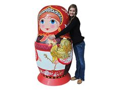 Life-Size Matryoshka Doll 1pc./5'3 yours for only $6,000