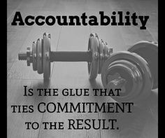 "One of the biggest reasons people don't reach their goals in health and/or fitness is that we don't stay accountable to the commitments we made :( Holding ourselves accountable can be tough - ""life"" happens - the newness of something wears off - excuses https://www.musclesaurus.com"