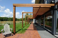 Customize Modern Wooden Half Covered Patio Ideas