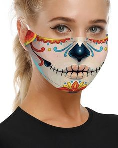 Shop Skull Print Breathable Mouth Mask Washable And Reusable right now, get great deals at menisoo Mascaras Halloween, Masque Halloween, Trend Fashion, Women's Fashion, Fashion Fabric, Fashion Online, Skull Print, Print Packaging, Fashion Face Mask