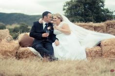 The custom built hay bale couch I made for Werner and Nadia's wedding photo session of their country wedding in Patensie, EC, SA