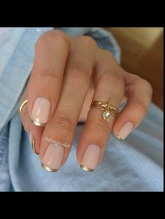 Gold tipped nails