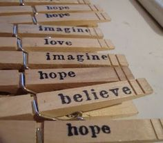 mama's little monkeys....: Hand Stamped Clothespins--Impatient Craftaholic Series