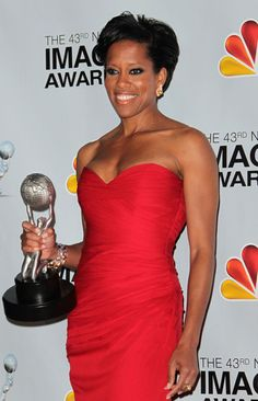 Loved this red gown on Regina King at the 2012 NAACP Awards
