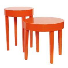 Orange table set $255  - Overstock
