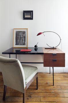 desk & sexy lamp - Rue Magazine (June 2012 Issue).