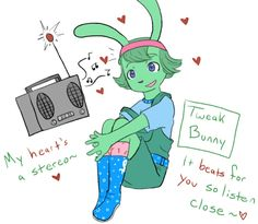 Cute anthro Tweak Bunny fan art