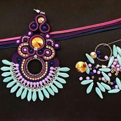 #soutache #tutorial #sutasz #doityourself #makeyourself #fashion #beadwork #etsy #jewelry #earrings #extralong
