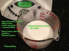 Coconut recipe for the Thermomix