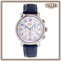 GT381.1.024.04.4 Gold Logo, Men's Collection, Silver Coins, Stainless Steel Case, Line, Sapphire, Crystals, Luxury, Water