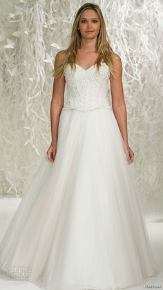 watters brides spring 2016 bridal strapless sweetheart neckline embroidered beaded corset bodice tulle a  line wedding dress style keo corset style ahsan skirt rum pink