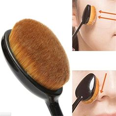 CoKate Cosmetic Foundation Liquid Cream Powder Blush Pigment Tool Pro Oval Brush ** Read more reviews of the product by visiting the link on the image.