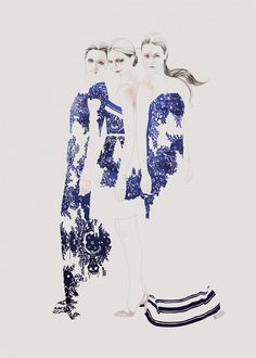 Fashion illustration - Valentino