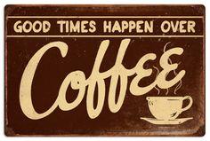 Retro Coffee Tin Sign