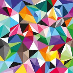 Interesting Kaleidoscope Print. Really like the interlocking shapes and both uniformed and abstract nature of this.