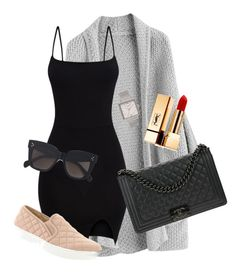 """outfit"" by angiebe1 on Polyvore featuring Yves Saint Laurent, Chanel, CÉLINE, Olivia Burton and Steve Madden"
