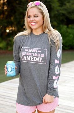 Jadelynn Brooke Sorry For What I Said On Gameday Tee - The Pink Lily