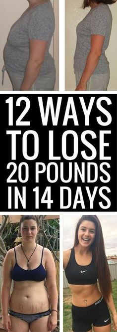12 really simple ways to lose 20 pounds in 14 days.