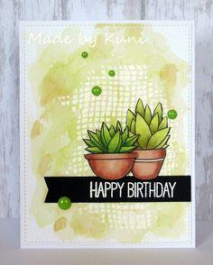 Kunis Bastelblog: Happy Birthday (MFT Sweet Succulents)