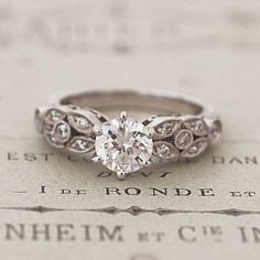 Floral Engagement Rings