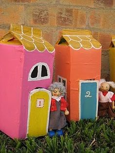 Juice carton play houses