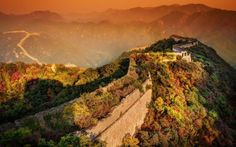 #beautiful_place #sunset #sunrise #travel #great_wall_of_china #china #wonder