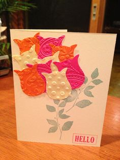Stampin Up Thinking of You Card on Etsy, $2.00