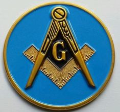 Blanket Dude Blue Masonic Prince Hall 357 License Plate with Mason Square