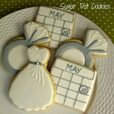 Bridal Shower Date Cookies Bing Images