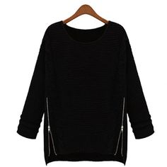 Sweater for Women with side zipper design on OpenSky