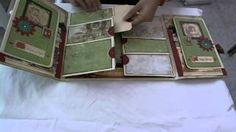 Scrapbook folder folio tutorial part 1 - YouTube