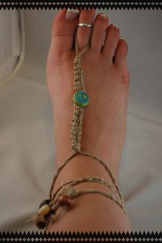 peace sign barefoot sandals!