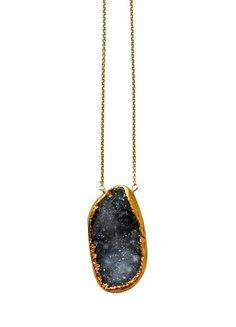 black druzy necklace | kei jewelry