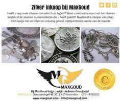 Kom langs met uw zilver en ontvang geheel vrijblijvend een taxatie van de waarde.   Goudsesingel 46 3011 KC Rotterdam 010 - 4782020  #maxgoud #zilver #sieraden #munten #bestek #goud #inkoop #vara #kassa #hoogsteprijs #rotterdam