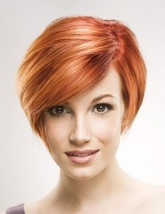 Copper Colored Short Bob