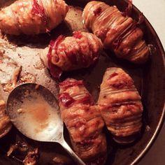Ofenkartoffel mit Cheddar und Bacon Foto: Bellagims