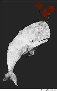 Whale with Balloons by Gelrev Ongbico